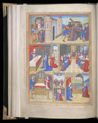 Full-Page Miniature With Scenes From the Life Of Christ And The Virgin, In A Book Of Hours f.54v